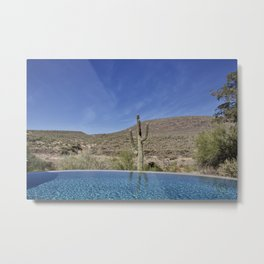 Water- Pool View Metal Print