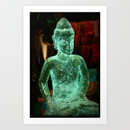 Glass Budha Art Print