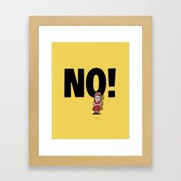 No! no.5 Framed Art Print