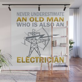 Old Man - An Electrician Wall Mural