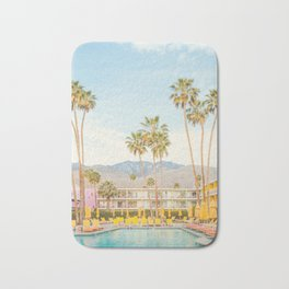 Poolside in Palm Springs - Travel Photography Bath Mat