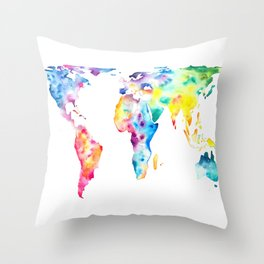 Gall–Peters projection Throw Pillow