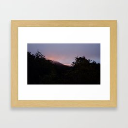 Descending Mt. buller, Australia Framed Art Print