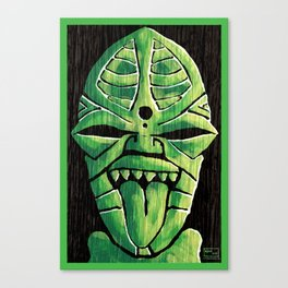 Green Tiki Canvas Print