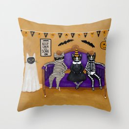 The Halloween Party Throw Pillow