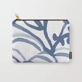 Blue Abstract Watery Lines Carry-All Pouch