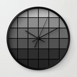 Faded Grey Wall Clock