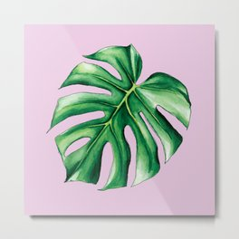 Palm Tree Leaf Art Print Metal Print