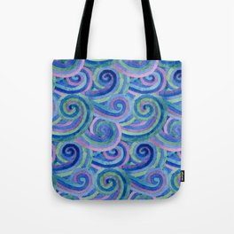 Wavy pattern Tote Bag