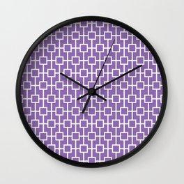 Amethyst Purple Lattice Pattern Wall Clock