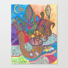 """New Orleans Gumbo Saxophone"" Canvas Print"