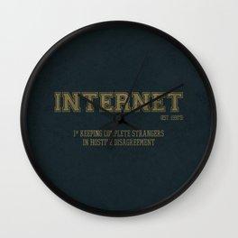 Internet est. 1990's Wall Clock