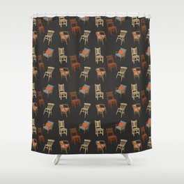 House of Chairs Shower Curtain