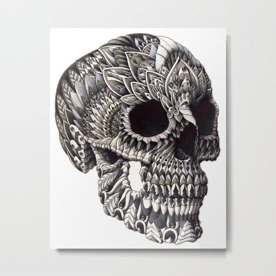 Ornate Skull Metal Print