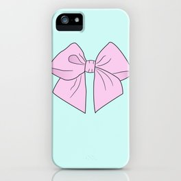 Ice Cream Pink Vector Bow iPhone Case