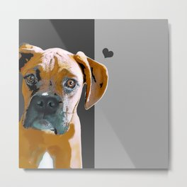 Boxer lovers Metal Print