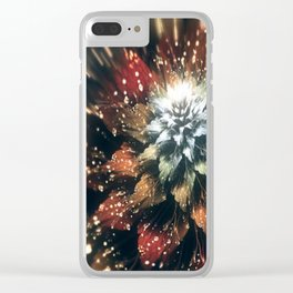 3D Color Flower V3 Clear iPhone Case