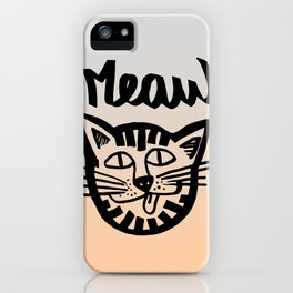 CAT MEAW FACE iPhone Case