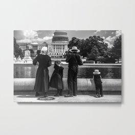 Amish Family Metal Print