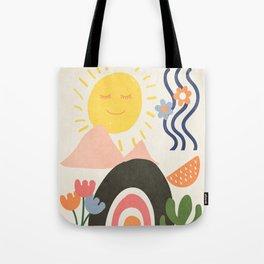 Abstract Summer 7 Tote Bag