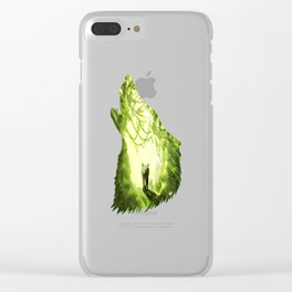 Wolf's Forest Clear iPhone Case