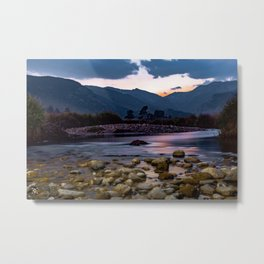 Stream After Sunset Metal Print