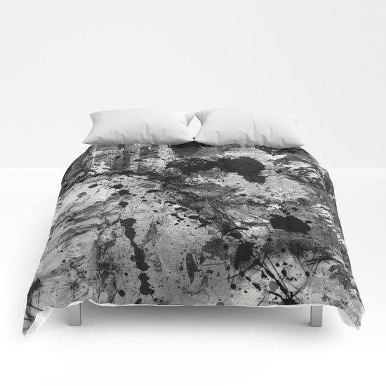 Lost In Contrast Comforters