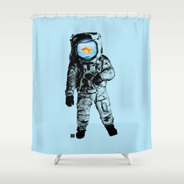 Goldfish Astronaut Shower Curtain