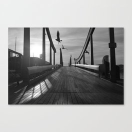 Port Vell Dawn Canvas Print