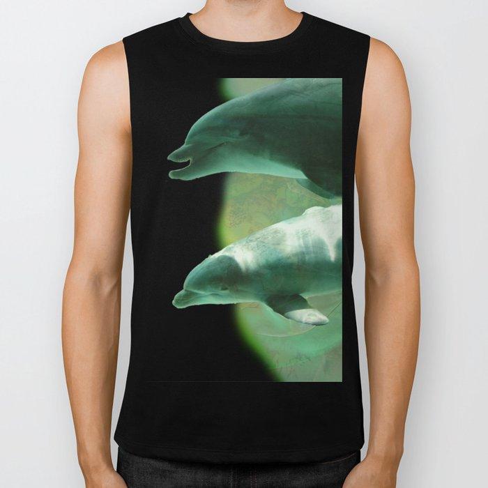 Two Dolphins Biker Tank