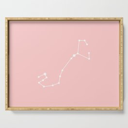Scorpio Star Sign Soft Pink Serving Tray