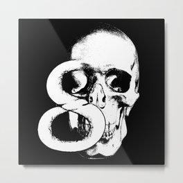 Skull No.8 Metal Print