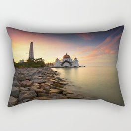 Lake Palace Sunset Rectangular Pillow