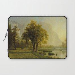 El Capitan Yosemite Valley 1875 By Albert Bierstadt | Reproduction Painting Laptop Sleeve