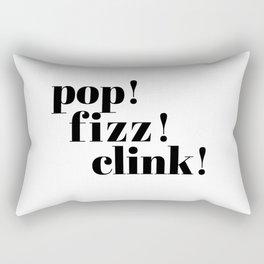pop! fizz! clink! Rectangular Pillow