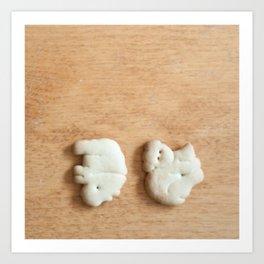 Animal Crackers - wood2 Art Print