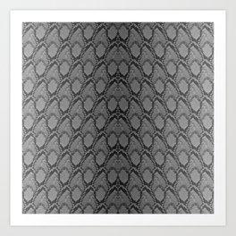Black and White Python Snake Skin Art Print