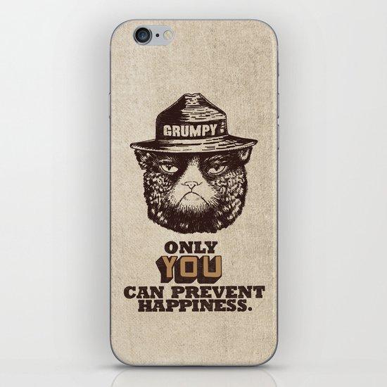 Grumpy PSA iPhone Skin