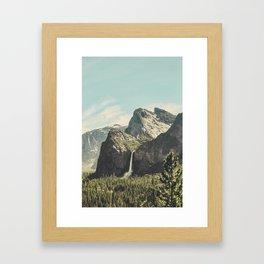 Yosemite Valley Waterfall Framed Art Print