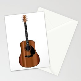 Acoustic Guitar Stationery Cards