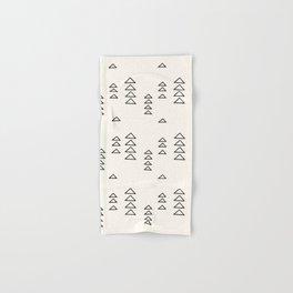 Minimalist Triangle Line Drawing Hand & Bath Towel