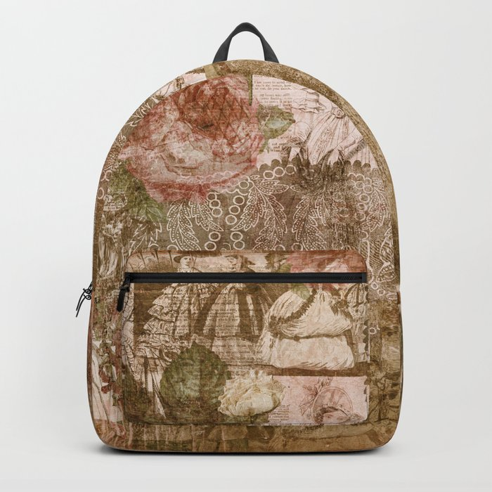 Vintage & Shabby Chic- Victorian ladies pattern Backpack