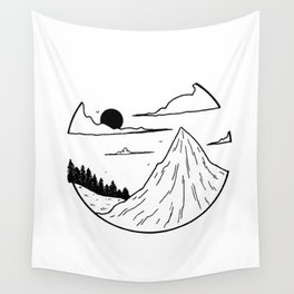 Paysage rond 1 Wall Tapestry