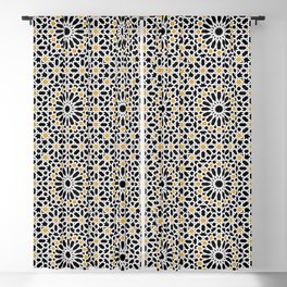 seamless oriental pattern x2 geometric design traditional mosaic style Blackout Curtain