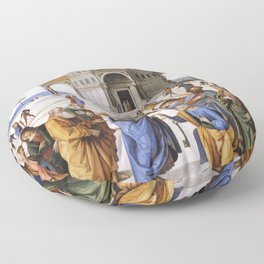 The Delivery of the Keys Painting by Perugino Sistine Chapel Floor Pillow