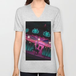 Pink and Purple Carnival Unisex V-Neck