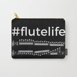 #flutelife (dark colors) Carry-All Pouch