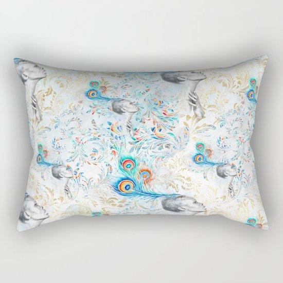 Feather peacock #14 Rectangular Pillow