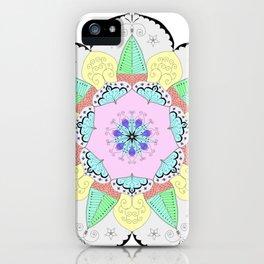 Mandala Art Flower Design Patterns Boho Pastel iPhone Case