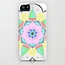 Mandala Art Flower Design Patterns Boho Pastel iPhone Case
